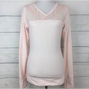 Lululemon Just Breathe Long Sleeve in Parfait Pink